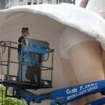 Гигантска статуя на Мерилин Монро в Чикаго