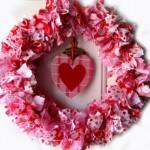 Венец от лентички за Свети Валентин