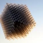 3D куб в небето