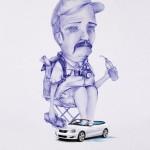 Карикатури рекламират коли под наем