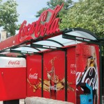 Хладилна автобусна спирка на Coca-Cola в Турция