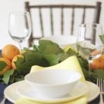 Лятна декорация на маса с лимони