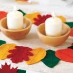 Есенна декорация за маса с листа от филц