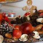 Коледен венец за маса от еко материали