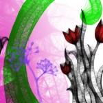 Четка с цветя