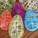 Великденски яйца от копринени конци