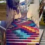 Стълбите са място за изкуство.