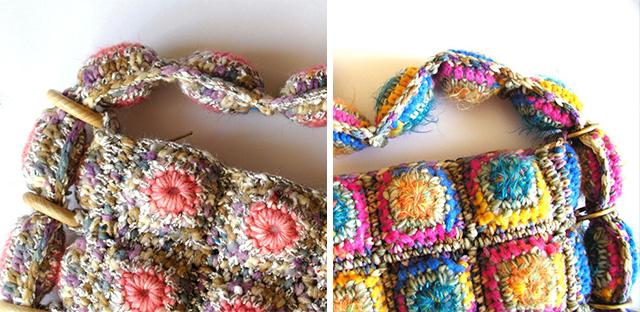 Ръчно плетени малки дамски чанти