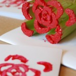Еко печат на цвете и сърце