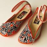 Илюстрация върху обувка на Francisco Miranda