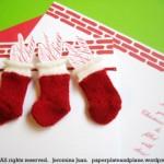 Коледна картичка с коледни чорапчета
