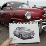 15 Скици на класически автомобили – част 1