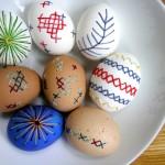 Бродирани великденски яйца